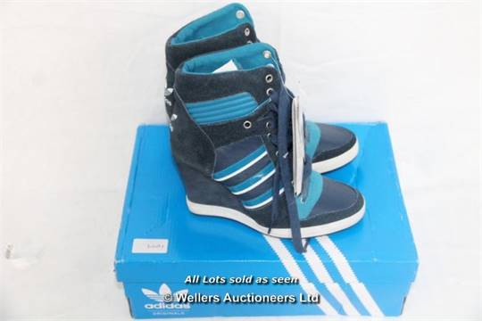LADIES NEW ADIDAS RIVALRY WEDGE TRAINERS SIZE UK 5.5 GRADE