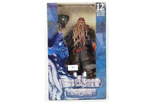 Pirates Of Caribbean Dead Mans Chest Davy Jones Figure NEW factory sealed