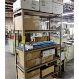 LOT SHELF W/CONTENTS TO INCLUDE BANDSAW BLADE STOCK