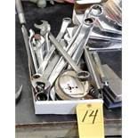LOT END WRENCHES, HAMMERS, FILES, SOCKETS, LEVEL