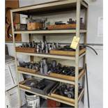 LOT SHELF W/CONTENTS TO INCLUDE MISC. DRILL BITS, BORING BARS