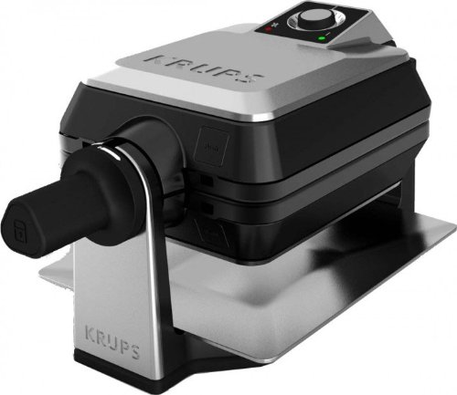 Lot 50031 - V Brand New Krups Stainless Steel Waffle Maker FDD95D - Deep Non Stick Removable Waffle Plates -