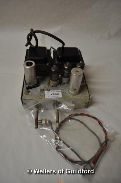 Lot 7456 - *C.1950's Pye high-fidelity valve/tube amplifier (Lot subject to VAT)