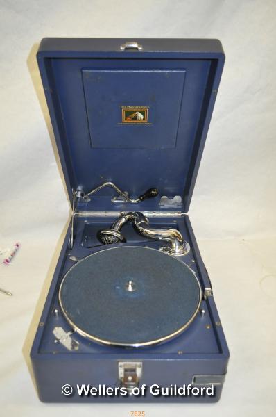 Lot 7625 - *Vintage HMV portable gramophone c.1935 (Lot subject to VAT)
