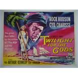 """TWILIGHT FOR THE GODS (1958) - British UK Quad film poster - 30"""" x 40"""" (76 x 101.5 cm)"""