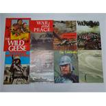 A SELECTION OF Vintage Movie Souvenir Program Books for a variety of WAR films: THE WILD GEESE (
