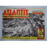 """ATLANTIS THE LOST CONTINENT (1961) - UK Quad Film Poster - 30"""" x 40"""" (76 x 101.5 cm)"""