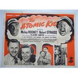 Group of mixed UK Quad Film Posters: To include: THE ATOMIC KID (MICKEY ROONEY) (1955) ; ) ; FLAME
