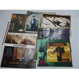 A group of mixed US / International Lobby Cards: titles include: PEARL HARBOUR; INDIANA JONES AND