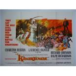 "KHARTOUM (1966) - UK Quad Film Poster - 30"" x 40"" (76 x 101.5 cm) - Folded"