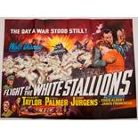 Group of mixed 1960s UK Quad/ One Sheet Film Posters to include: FLIGHT OF THE WHITE STALLIONS (