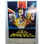 "THE SEA WOLVES (1980) - British Double Crown - Arnaldo Putzu artwork - 20"" x 30"" (51 x 76 cm) -"