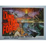 """THE LAND THAT TIME FORGOT (1975) - Artwork by Tom Chantrell British UK Quad Film Poster - 30"""" x"""