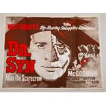 """DR SYN (1963) (alias the Scarecrow) - re release UK Quad (30"""" x 40"""" - 76 x 101.5 cm) - Folded - Very"""