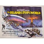 ISLAND AT THE TOP OF THE WORLD LOT (1974) - (3 in Lot) - 3 x UK Quad Film Posters - Main design, '