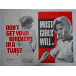 Selection of UK Quad Film Posters: DON'T GET YOUR KNICKERS IN A TWIST / MOST GIRLS WILL; GOODBYE