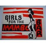 """GIRLS FOR THE MAMBO BAR (1959) - British UK Quad film poster (30"""" x 40"""" - 76 x 101.5 cm) - Folded ("""