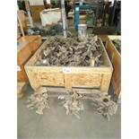 CRATE OF ROTARY LATHE SPINDLE KNIVES AND FLUTES,
