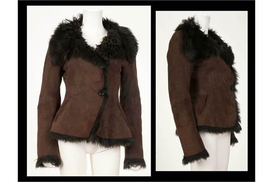 Next black sheepskin jacket