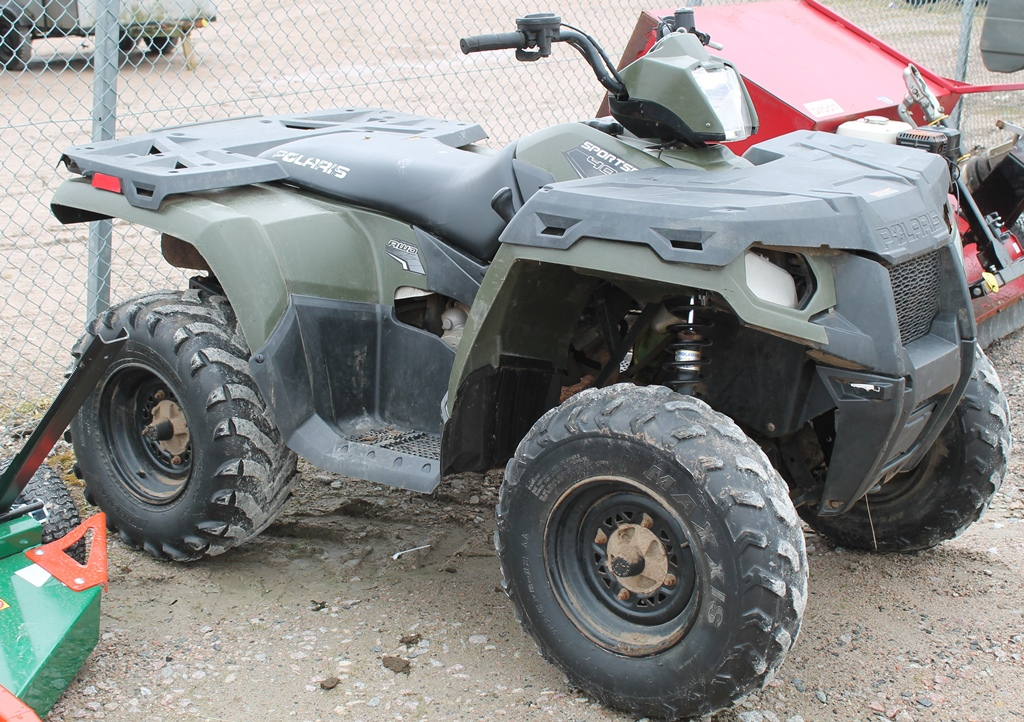Lot 2007 - POLARIS SPORTSMAN 400 QUAD BIKE 4XAMH46A8CA350757 KEY IN PC