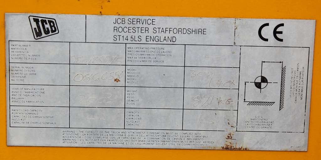 Lot 2000 - JCB ROAD SWEEPER/COLLECTER ATTACHMENT