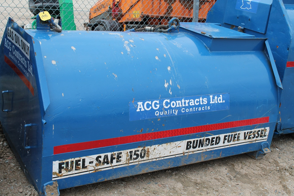 Lot 1998 - FUEL-SAFE 150 BUNDED FUEL TANK - WIRE ROPE LIFT