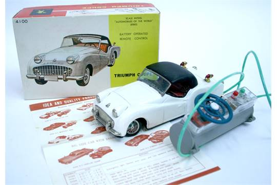 Scarce Bandai Japan Triumph Tr3 Coupe No 4100 Battery Operated