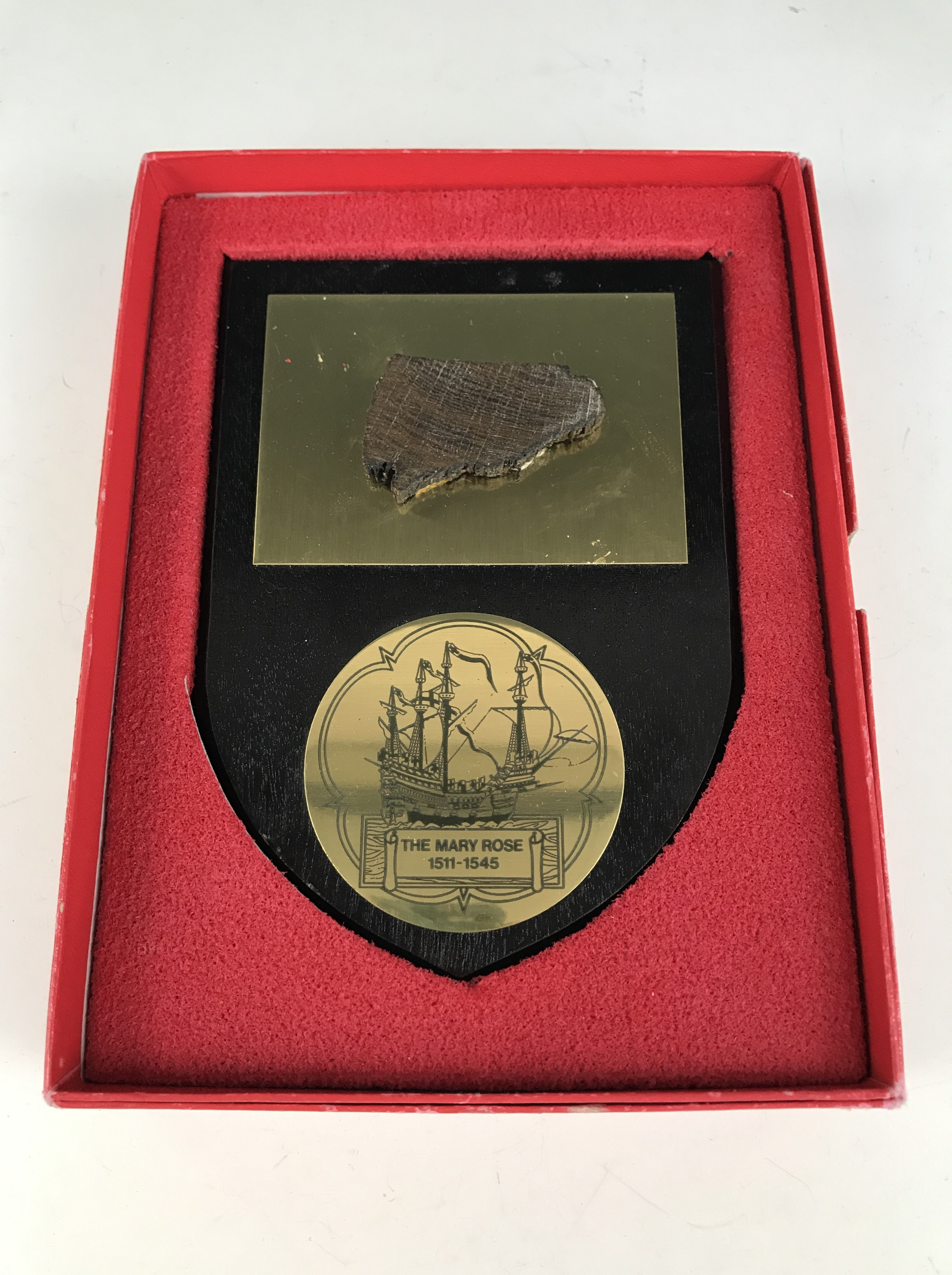 Lot 24 - A piece of timber from the wreck of the Mary Rose, with Mary Rose Trust certificate and original