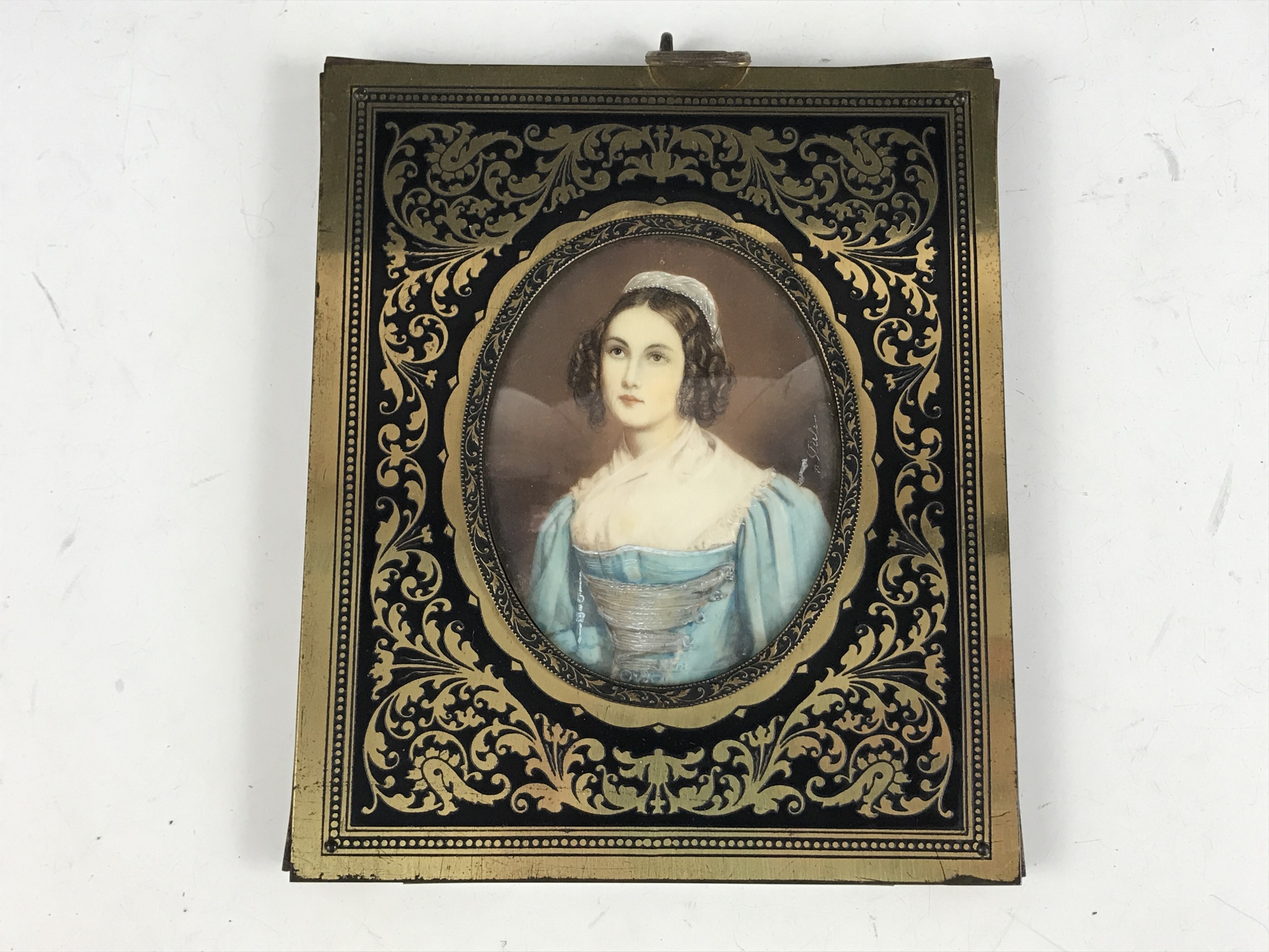 Lot 48 - M*** Stielen (20th Century) A portrait miniature of a young lady in 18th Century dress, wearing a