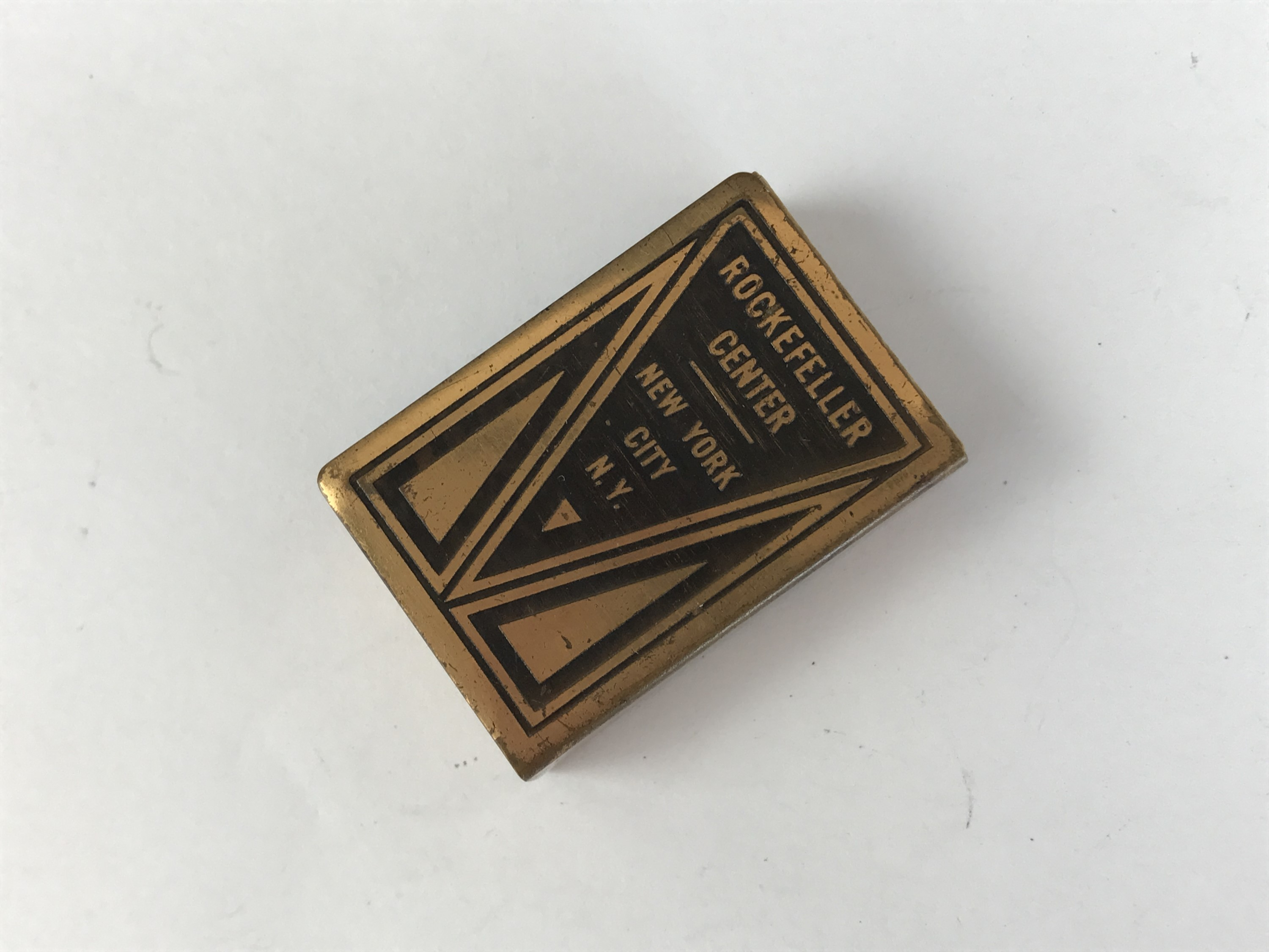 Lot 23 - A mid 20th Century anodised brass match box cover, a souvenir of the Rockefeller Center, New York, 4