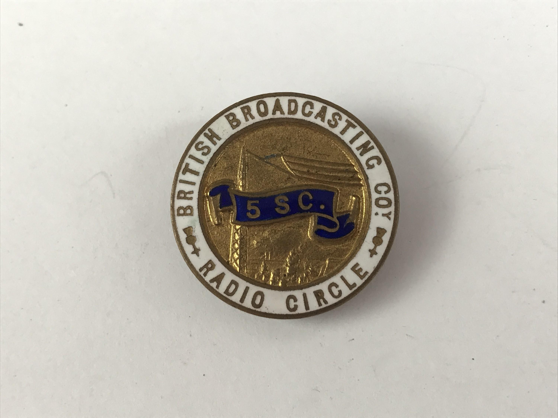 Lot 38 - A 1920s BBC Radio Circle enamelled lapel badge