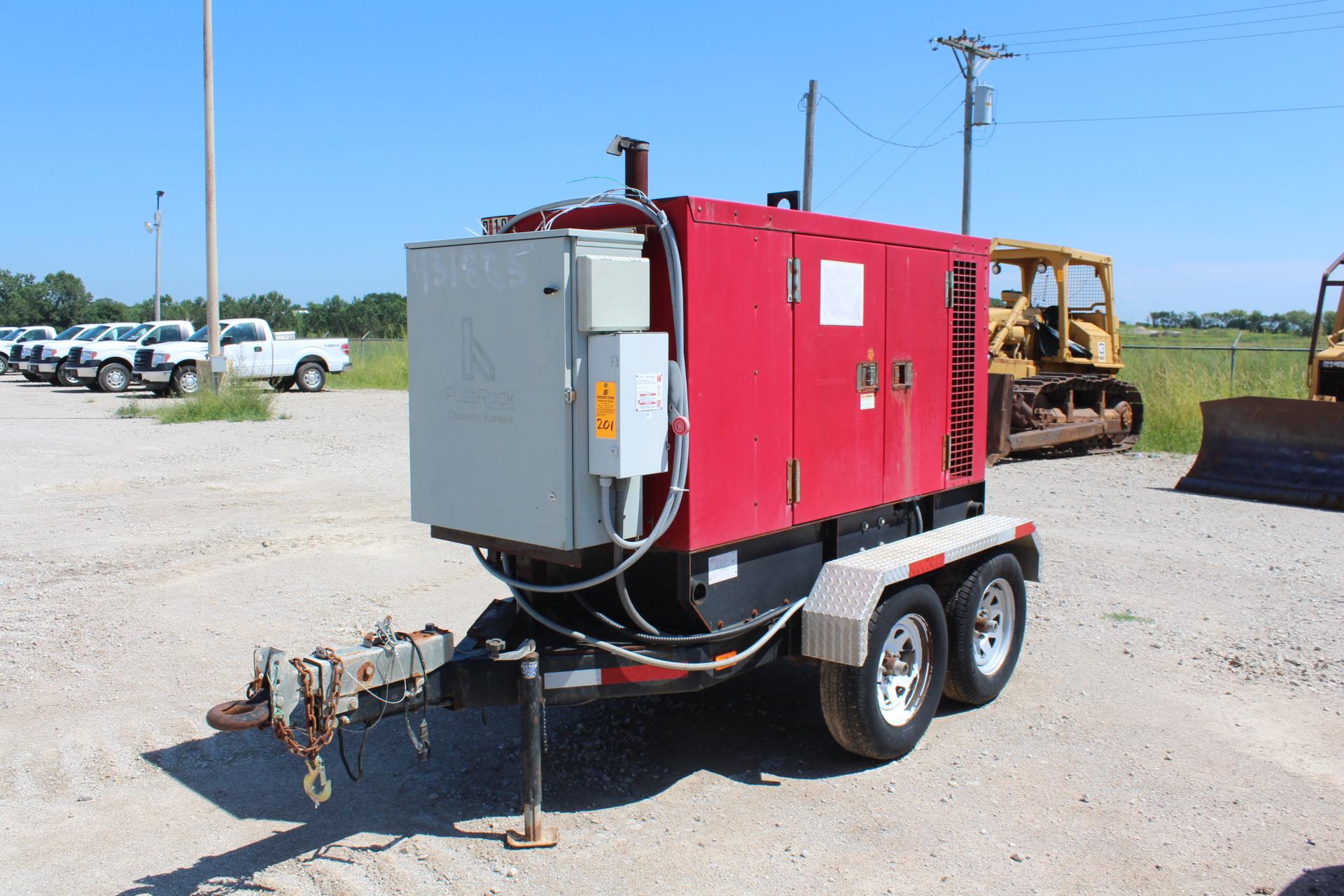 Baldor Model TS80T 65 KW Diesel Powered Portable Generator S N