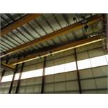 Kone Crane 3-Ton Bridge Crane. Approx. 55' Span, w/ (2) Remote Controlled 1.5-Ton Capacity