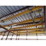 Kone Crane 5-Ton Bridge Crane. Approx. 55' Span, w/ (2) Remote Controlled 2.5-Ton Capacity