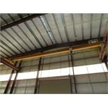 Kone Crane 2.5-Ton Bridge Crane. Approx. 55' Span, w/ (2) Remote Controlled 1.2-Ton Capacity