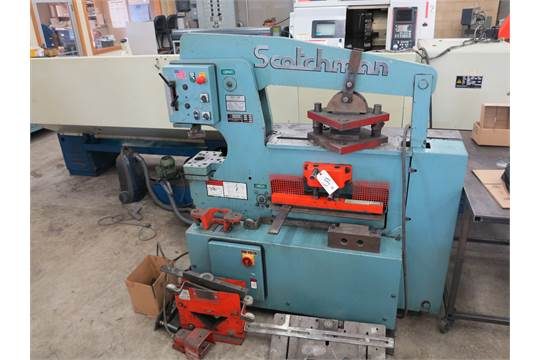 Scotchman Model 6509 24M Ironworker S N 7344FF0904 65 Ton Punch 9