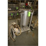 ~20 Gal. Portable S/S Ingredient Tank with APV Positive Displacement Pump, Size R1R, S/N H-1169, HPM