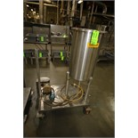 G & F 30 Gal. Portable S/S Ingredient Tank, Model TKD-30G, S/N ITT-18-136984 with Greylor Pump,