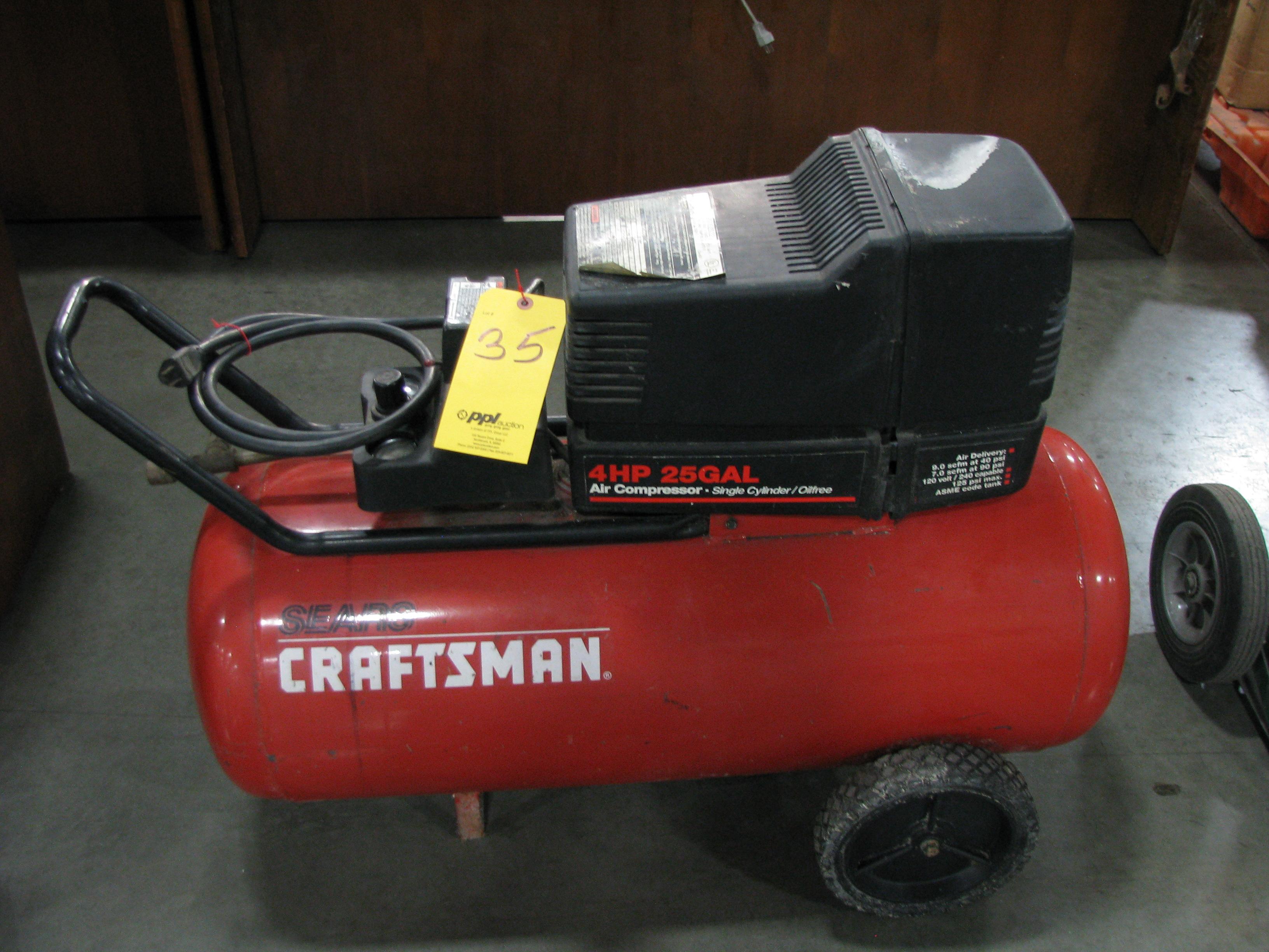 Craftsman 4 Hp 25 Gallon Portable Air Compressor