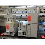 Lot of (2) Shimadzu HP:C systems including SPD-10A vp UV-VIS detectors, (2) SIL-10AP auto injectors,