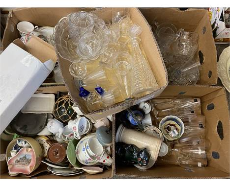 ROYAL DOULTON CHAMPAGNE FLUTES, a large quantity of other glassware, Japanese ginger jar, teaware and an assortment of simila