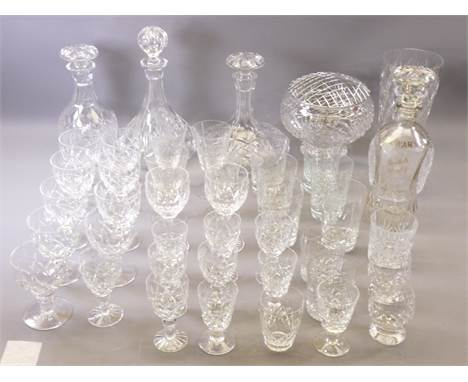 DEWAR'S SCOTCH WHISKEY DECANTER, a pair of other decanters, two ship's decanters and a quantity of other high quality glasswa