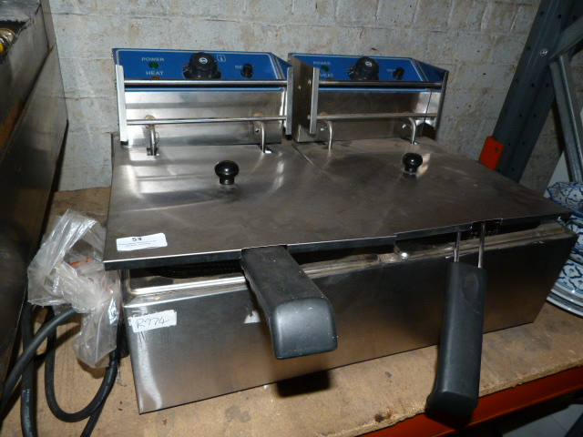 Lot 53 - Ace Catering Stainless Steel Two Compartment, Two