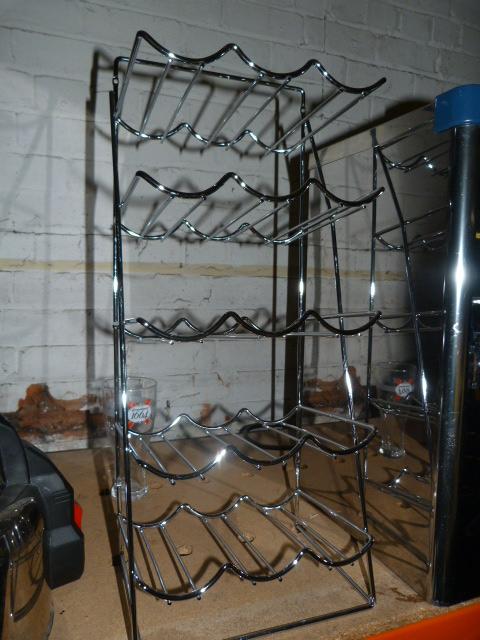 Lot 48 - Chrome 15 Bottle Wine Rack