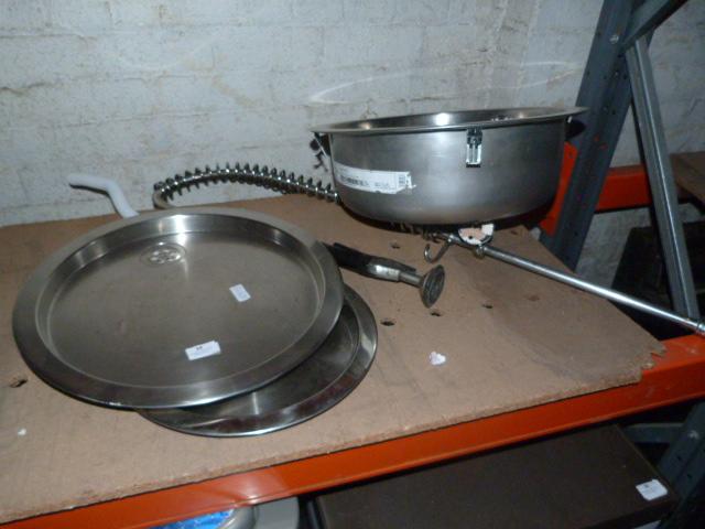 Lot 34 - Stainless Steel Circular Sink, Circular Drainer an