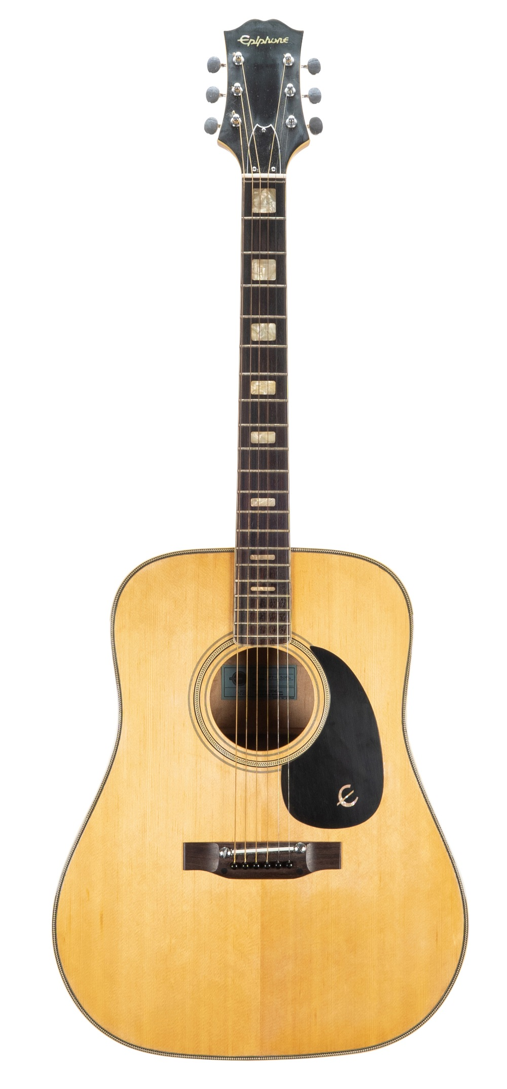 1977 Epiphone FT-150 BL acoustic guitar, made in Japan; Finish: natural; Fretboard: rosewood; Frets: