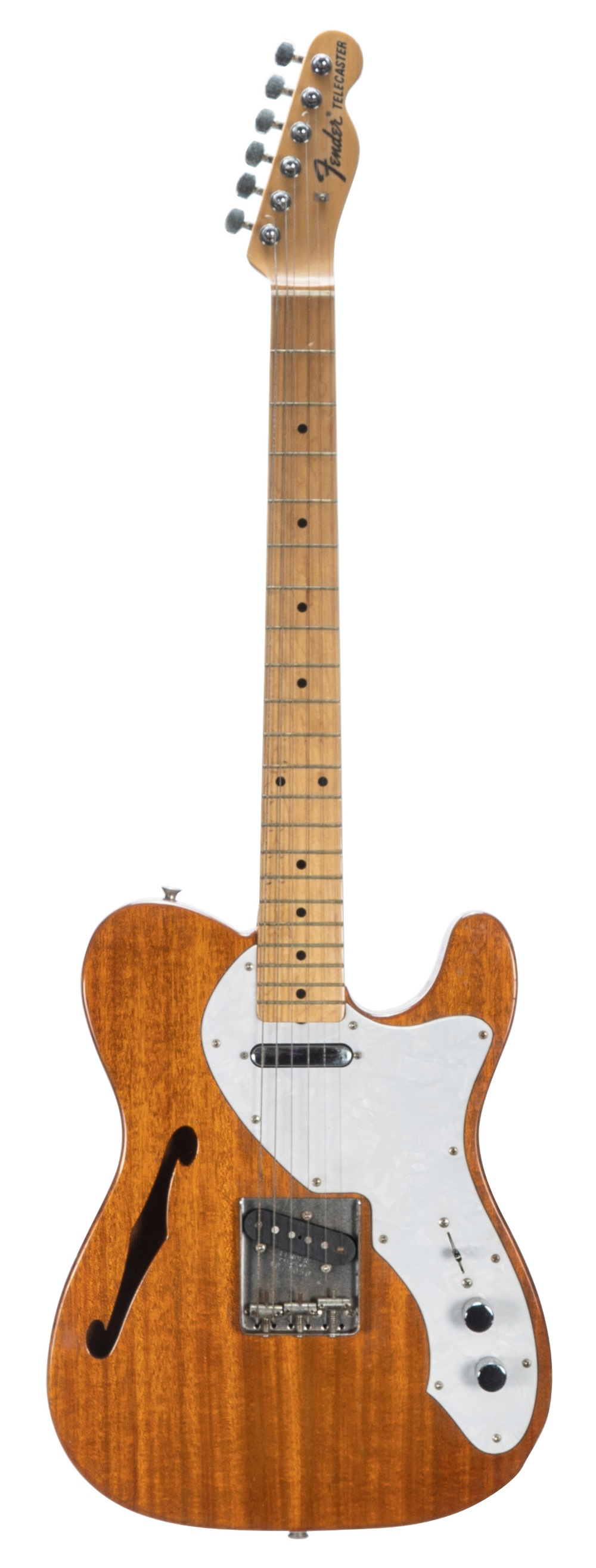 1980s Fender '68 Thinline Telecaster electric guitar, made in Japan, ser. no. A0xxxx0; Finish: