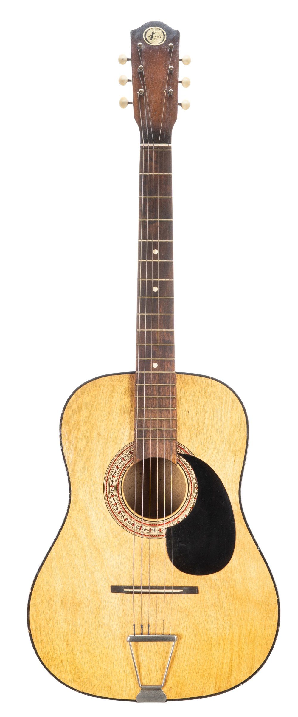 1970s Eros Blackbird twelve string acoustic guitar, made in Korea, hard case; together with a Kay - Image 2 of 2