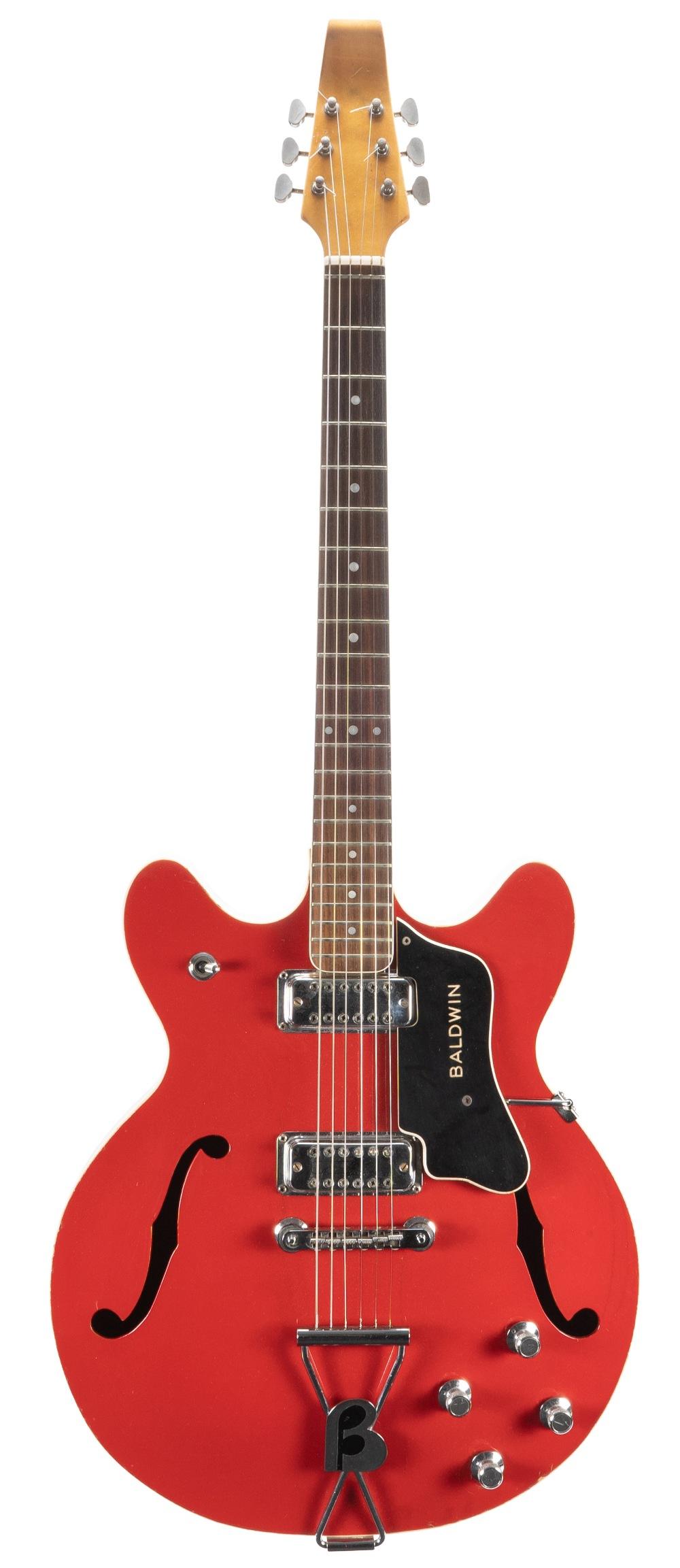 Late 1970s Baldwin 700 Series hollow body electric guitar, made in England, ser. no. 7xxx2;