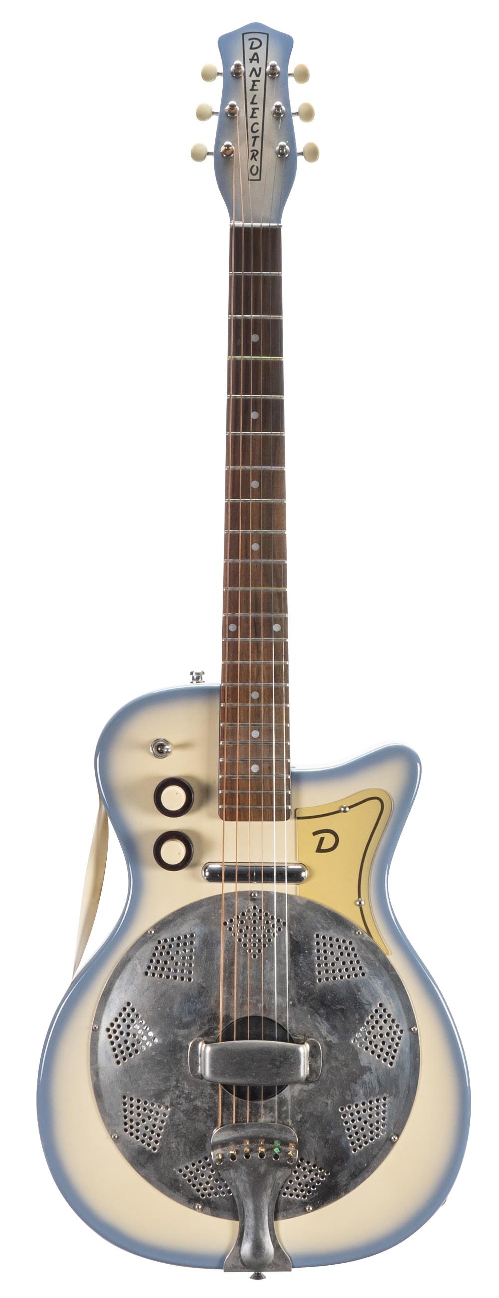 1990s Danelectro Resodan electric guitar, made in Korea; Finish: blue burst; Fretboard: rosewood;